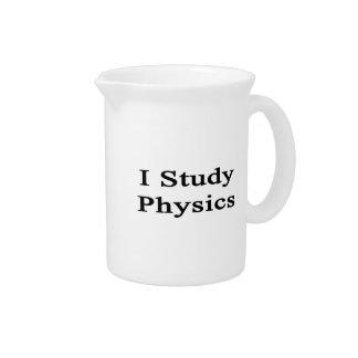 I Study Physics Beverage Pitcher