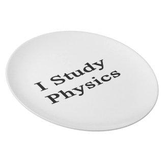I Study Physics Party Plate