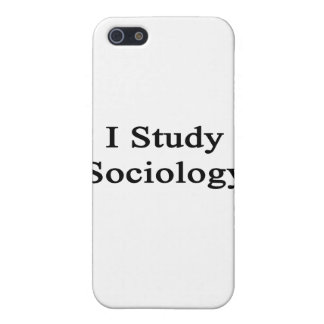 I Study Sociology Covers For iPhone 5