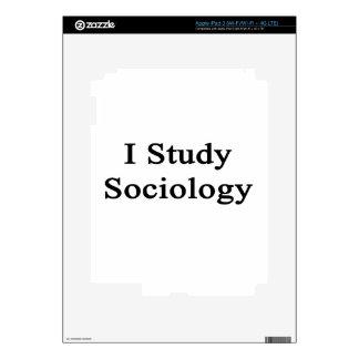 I Study Sociology iPad 3 Decals