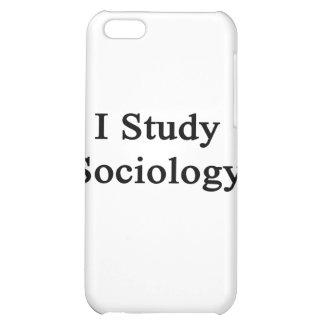 I Study Sociology iPhone 5C Cases