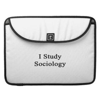 I Study Sociology MacBook Pro Sleeves