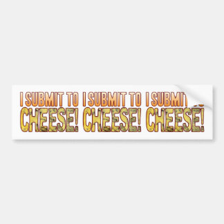 I Submit Blue Cheese Bumper Sticker