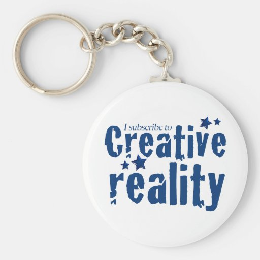 I subscribe to creative reality basic round button keychain