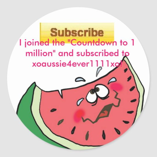 """""""I Subscribed"""" Sticker"""