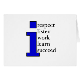 I Succeed (blue) Card