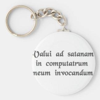 I succeeded in summoning satan into my computer. keychain