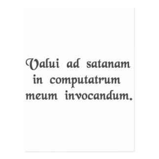 I succeeded in summoning satan into my computer. postcard