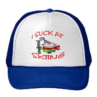 I Suck At Skiing Trucker Hat