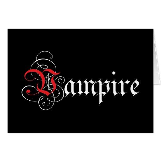 I Suck You! - Calligraphic  Vampire Cards