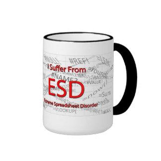 I Suffer From Extreme Spreadsheet Disorder Ringer Mug