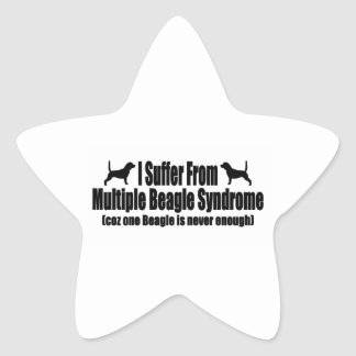 I Suffer From Multiple Beagle Syndrome Star Sticker