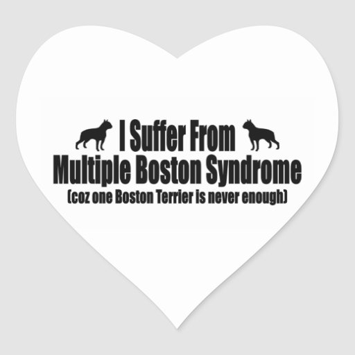 I Suffer From Multiple Boston Syndrome Heart Sticker