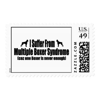 I Suffer From Multiple Boxer Syndrome Postage