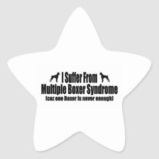 I Suffer From Multiple Boxer Syndrome Star Sticker