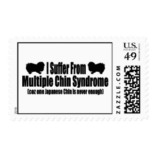I Suffer From Multiple Chin Syndrome Postage Stamp