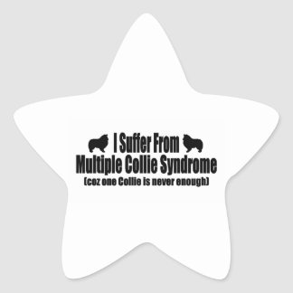 I Suffer From Multiple Collie Syndrome Star Sticker