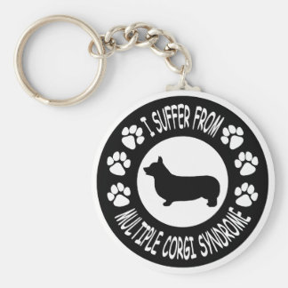 I Suffer From Multiple Corgi Syndrome Basic Round Button Keychain