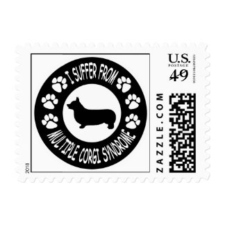 I Suffer From Multiple Corgi Syndrome Postage