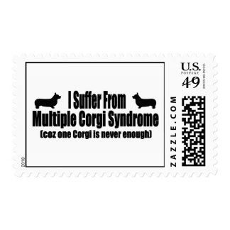 I Suffer From Multiple Corgi Syndrome Postage Stamp