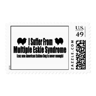 I Suffer From Multiple Eskie Syndrome Postage Stamp