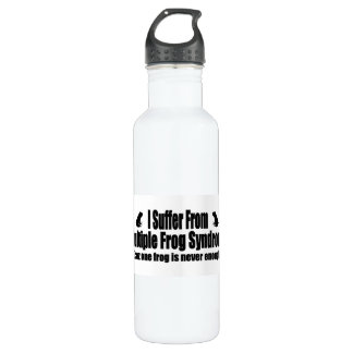 I Suffer From Multiple Frog Syndrome 24oz Water Bottle
