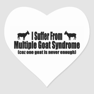 I Suffer From Multiple Goat Syndrome Heart Sticker