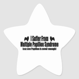 I Suffer From Multiple Papillon Syndrome Star Sticker