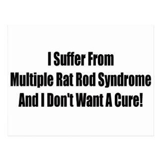I suffer From Multiple Rat Rod Syndrome And I Dont Postcard