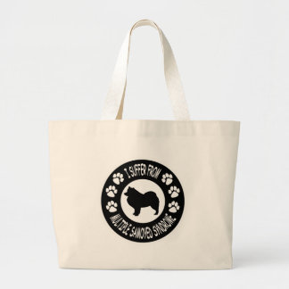 I Suffer From Multiple Samoyed Syndrome Large Tote Bag
