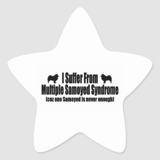 I Suffer From Multiple Samoyed Syndrome Star Sticker
