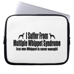 Neoprene Laptop Sleeve 10 inch with Whippet Phone Cases design