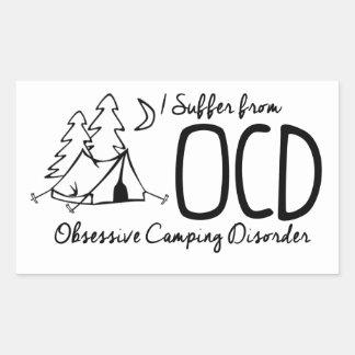 I Suffer From OCD - Obsessive Camping Disorder Rectangular Sticker