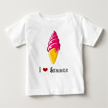 Beach Themed I ❤ Summer - Ice Cream Baby T-Shirt