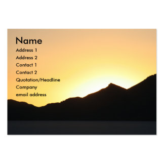 i sunset too large business card