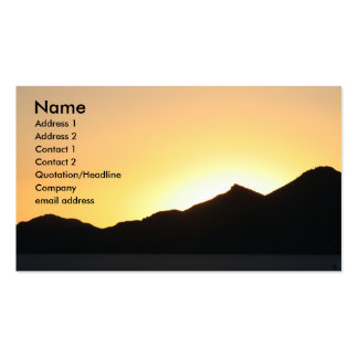 i sunset with 2011 calendar business card