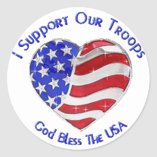 I Suport our troops Stickers