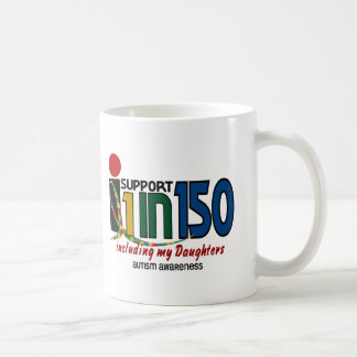 I Support 1 In 150 & My Daughters AUTISM AWARENESS Mug