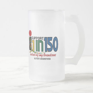 I Support 1 In 150 & My Grandsons AUTISM AWARENESS Coffee Mug