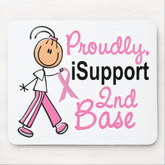 I Support 2nd Base SFT Breast Cancer Mouse Pad