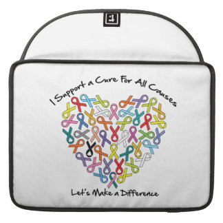 I Support a Cure Let's Make a Difference MacBook Pro Sleeve