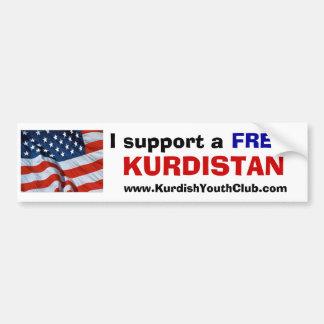 I support a free Kurdistan USA Bumper Sticker