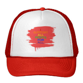 I SUPPORT ALL RIGHTS FOR ALL -.png Mesh Hat