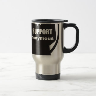 I support Anonymous 15 Oz Stainless Steel Travel Mug