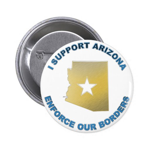 I Support Arizona 2 Inch Round Button