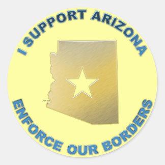 I Support Arizona Classic Round Sticker