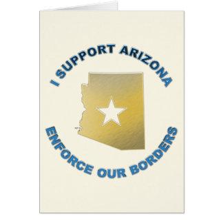 I Support Arizona Greeting Card