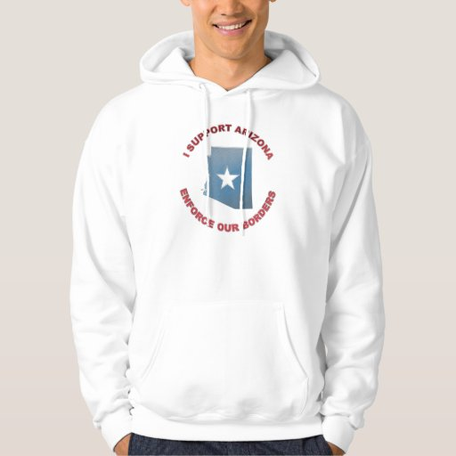 I Support Arizona Hooded Pullover