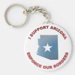 I Support Arizona Key Chains