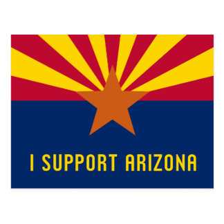 I Support Arizona Postcard